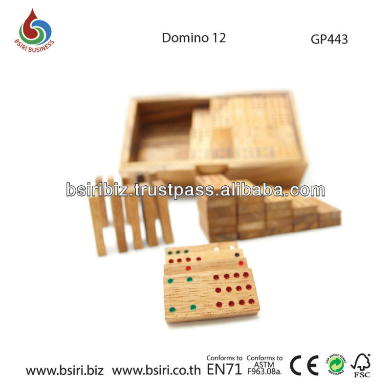 wooden puzzle games blocks Dominoes 12