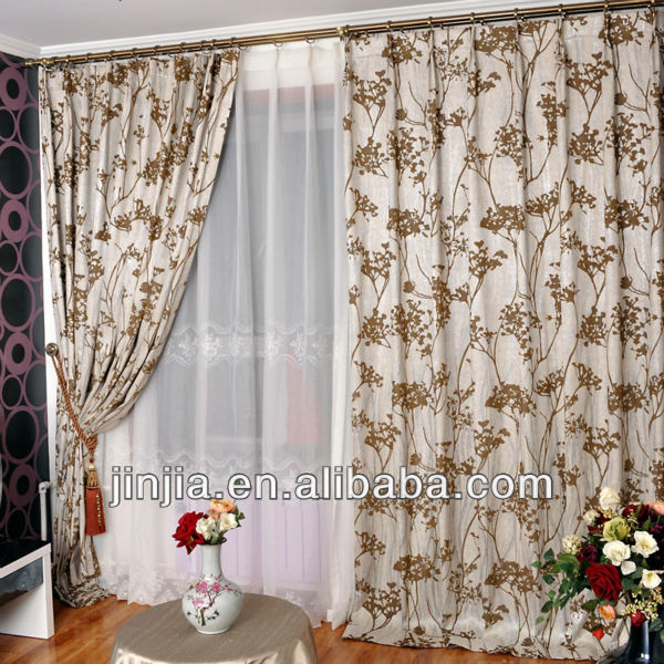 MT 1083 cheap curtain classic home curtain jacquard curtain draperies