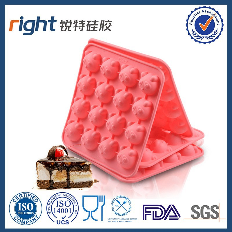 Hot selling Panda silicone chocolate cake mold Bendable 16 cavity silcone chocolate cake mold tray Heat Safe silicone cake molds