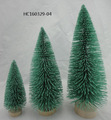 New design artificial green Fiber Optic Christmas Trees ornament 3/set