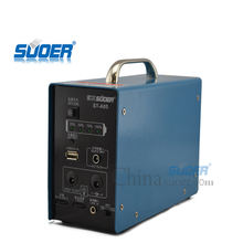 Suoer Low Price 6V 4AH Unique Portable Power Electricity Generator System solar generator for Home Use
