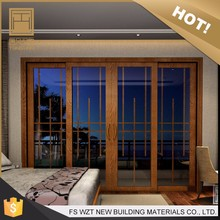 Alibaba gold supplier indonesian lowes glass 4 panel sliding patio doors