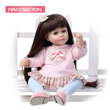 2018 NEW design Reborn toddler Adora girl doll sweet baby doll Birhtday Gift Toys for Girls long wig