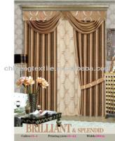 rod pocket top new style jacquard curtain with fancy valance