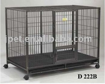 D222-Series, the iron square tube dog cage ,black