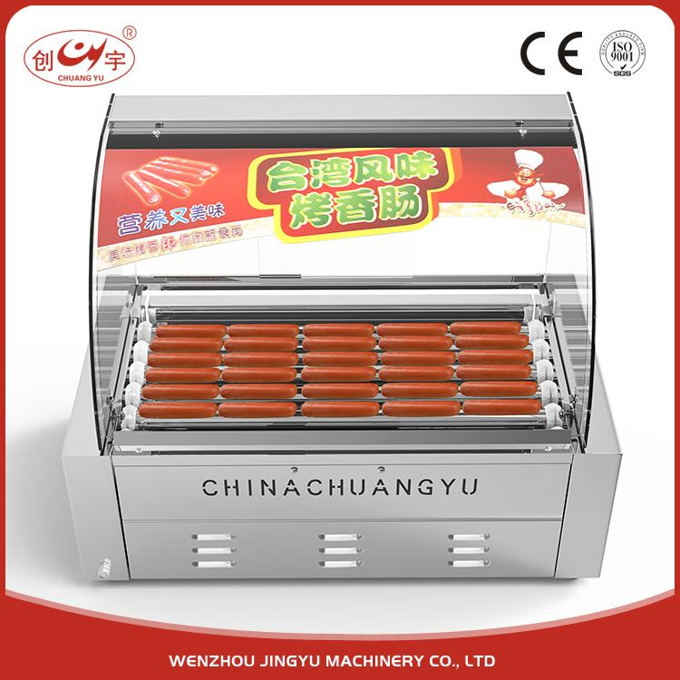 Chuangyu New Invented Products 7 Roller Automatic French Hot Dog Maker Making Machine