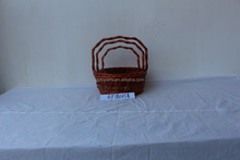 Custom Made Plastic Lined Wicker Basket For Sale