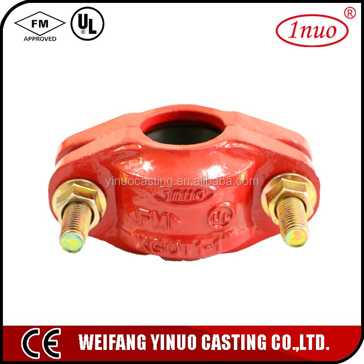 FM UL listed ductile iron light pipe fitting shaft coupling