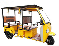 Chinese Three Wheel Electric Motorcycle Rickshaw 1000W/ 50-70km Commercial Tricycles For Passenges