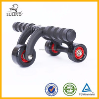 Daily life body strong fitness equipment three stable Abdomonal Abs Wheels