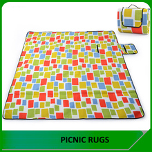 Custom waterproof disposable outdoor rubber backed picnic rug