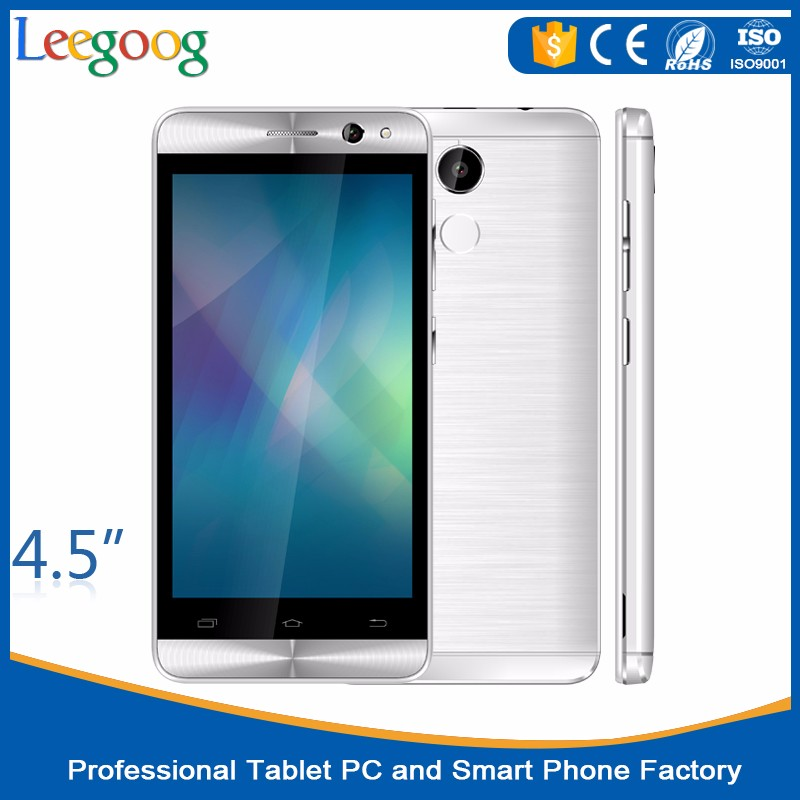 Newest 2016 android mobile Phone cellphone 4.5inch smartphone