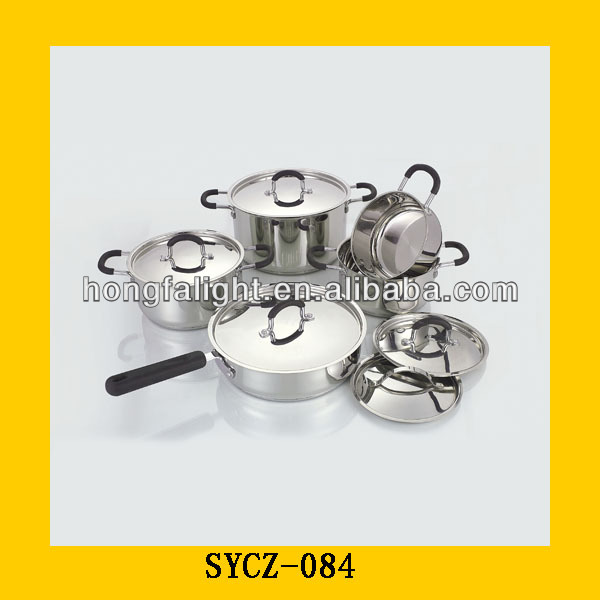 12pcs stainless steel microwave borosil cookware