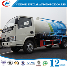 DongFeng 4000L Sewage Tanker Truck 4CBM Sewer Clean Truck 4M3 Sewage Suction Truck