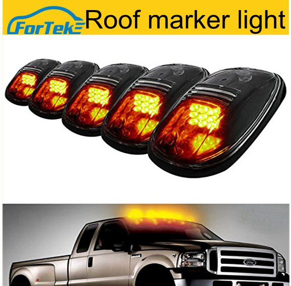 5PCS amber led Top Marker Running Lights led roof light for car truck 4X4