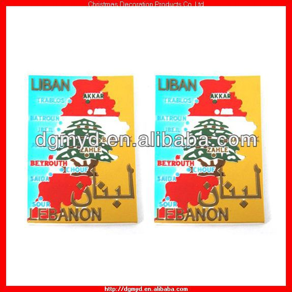 Liban map custom fridge magnet (MYD-1040)
