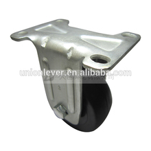Rigid 3 inch small stainless steel caster plate type fixed carry master leveling casters