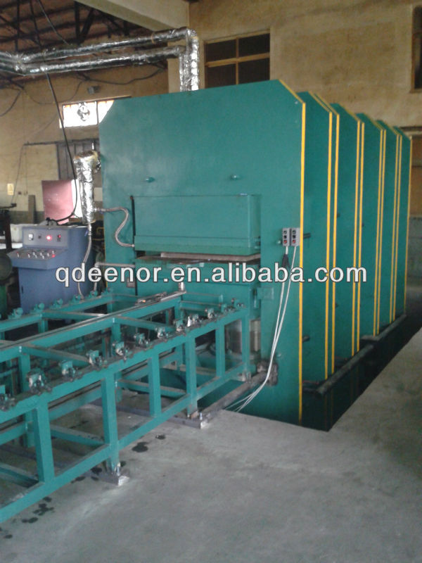 Rubber Ground Mat Making Machine From Waste Tyre Recycling