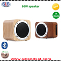 Small quantity accepted of stocked products wireless bamboo wooden bluetooth cube speakers with bluetooth wood BSW18