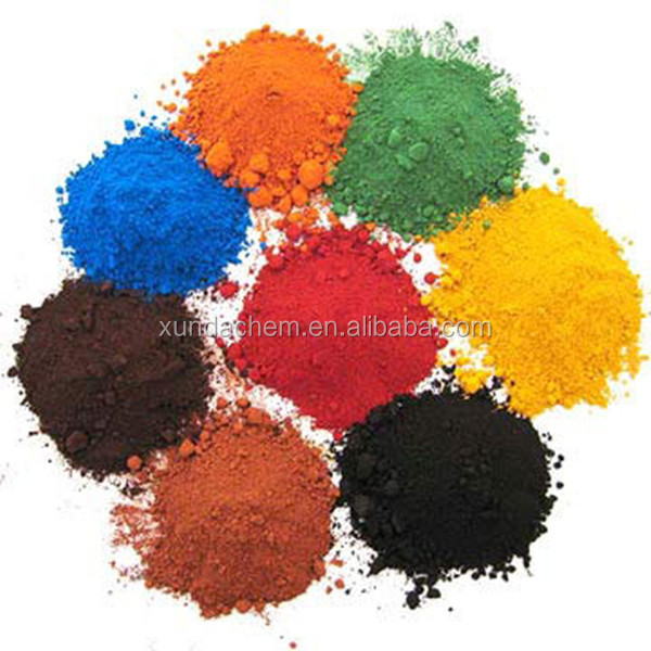 China leading manafuctuer sell iron oxide red/yellow fluorescent paint powder