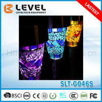 Solar Powered Mosaic Border Garden Post Lights For Decoration Christmas