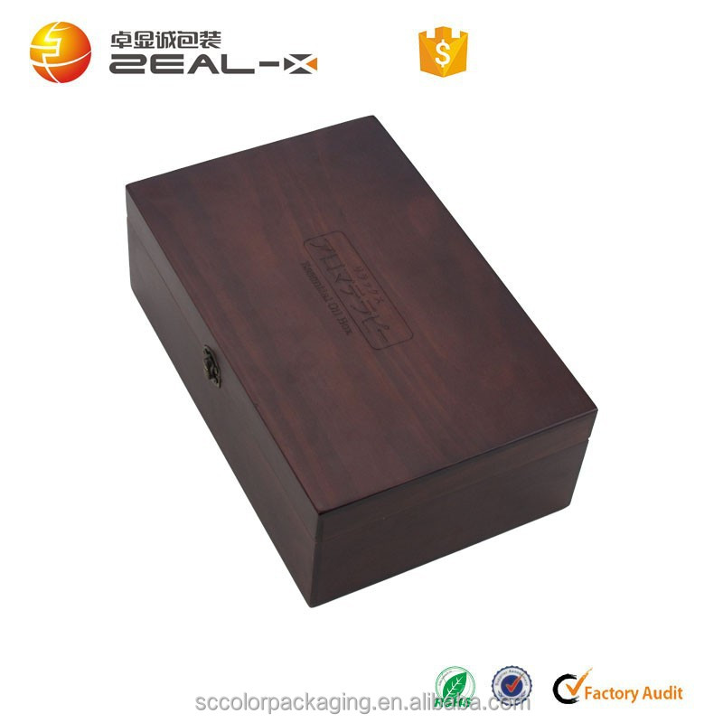 2015 year china factory suppliers sellin decorative gift wooden Essential oil bottle storage box in packaging boxes