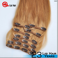 tangle&shedding free clear clip hair products,clip in hair