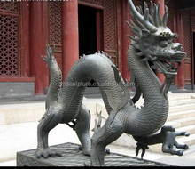 Chinese bronze dragon sculpture