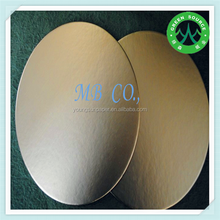 2015 Round silver gold foil cake boards/weeding cake base /cake box in china