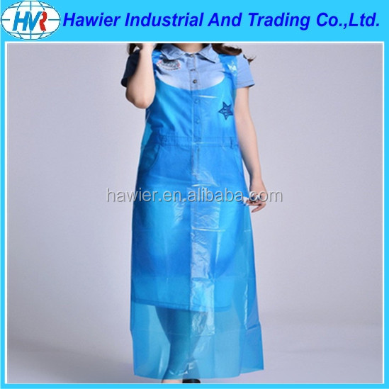 Home disposable plastic waterproof catering aprons