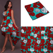 A925 Blesing garment african wax print fabric super wax cotton flower design