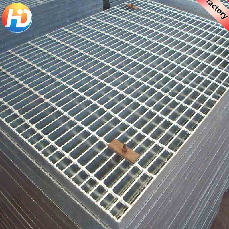 China Hebei Factory Hot dip galvanized steel grating mesh steel grating panel