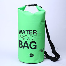 Factory wholesale High Quality 5L 10L 15L 20L 30L 40L 500D PVC tarpaulin Ocean pack dry bag waterproof dry tube bag with strap