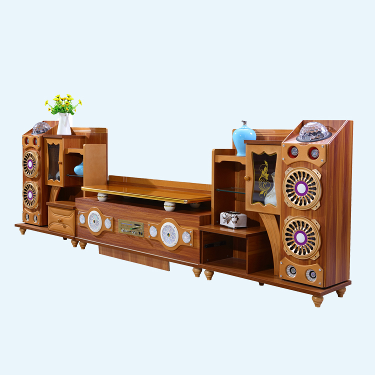 Living Room Tv Showcase Designs Remote Control Voice Play Lcd Wooden Cabinet