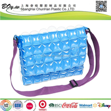 Audit factory fashion bubbles shoulder water proof beach inflatable pvc hand bag