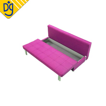 Bargain armless knockdown convertible sofa bed with storage drawer