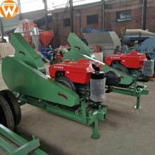China diesel powered agricultural machinery portable wood branch chipper