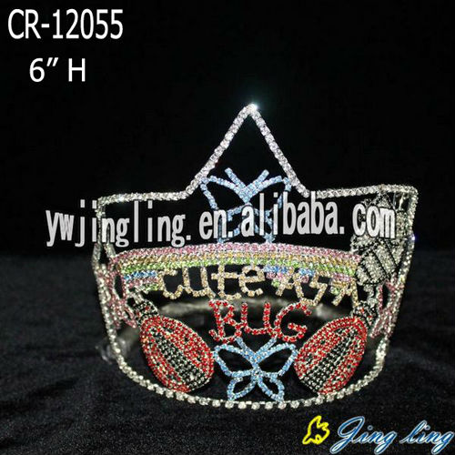 Custom bug and butterfly large pageant crowns for kids