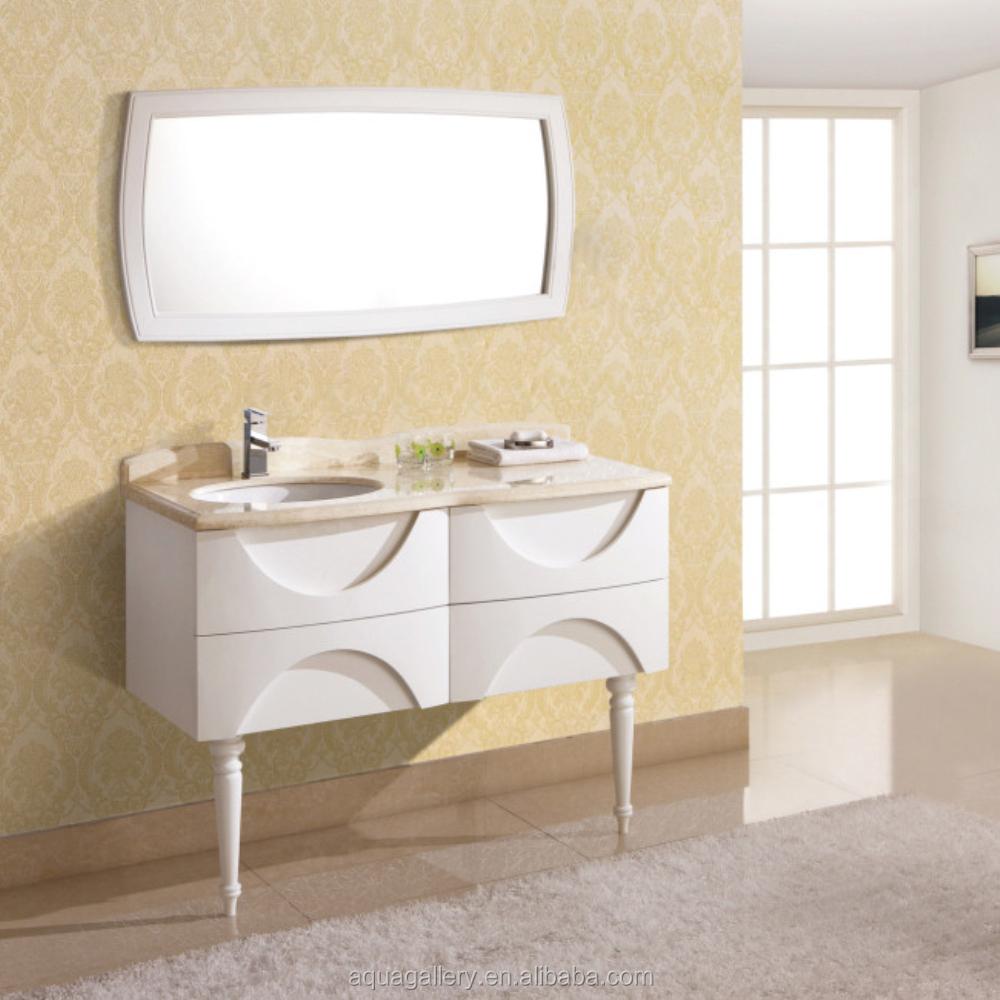 curved solid wooden bathroom vanity solid wooden bathroom cabinet oak