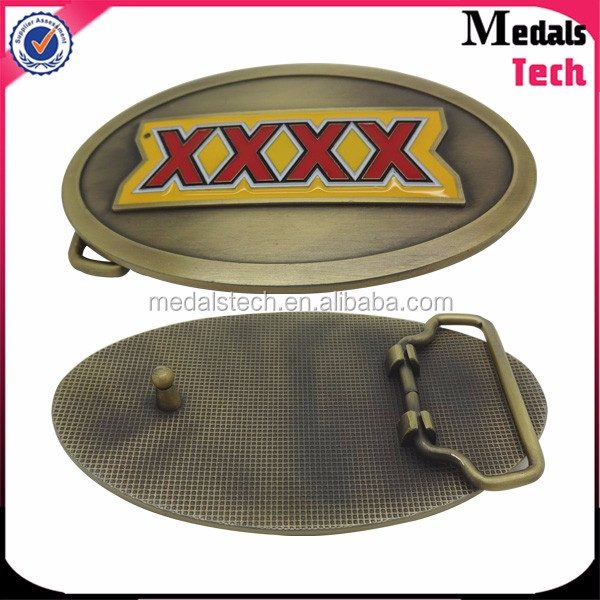 Fashion style custom munufacturer die-casting antique 3d belt buckle parts