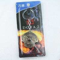 New Online Game Dota2 Key Chain Novelty Dota 2 Earth Spirit Logo Keychain Key Ring Jewelry Kids Gifts Keyring