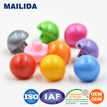 MS014 ball plastic shank button in different color