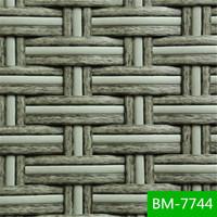 high quality gery white flat pvc wicker for rattan furniture BM-7744