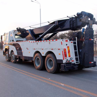 Sliding Rotator Wrecker Tow Truck 60 tons boom 60 tons lifting new system