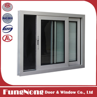 Double Tempered Clear Glass Heat | Sound Insulation White Aluminum Framed Sliding Window