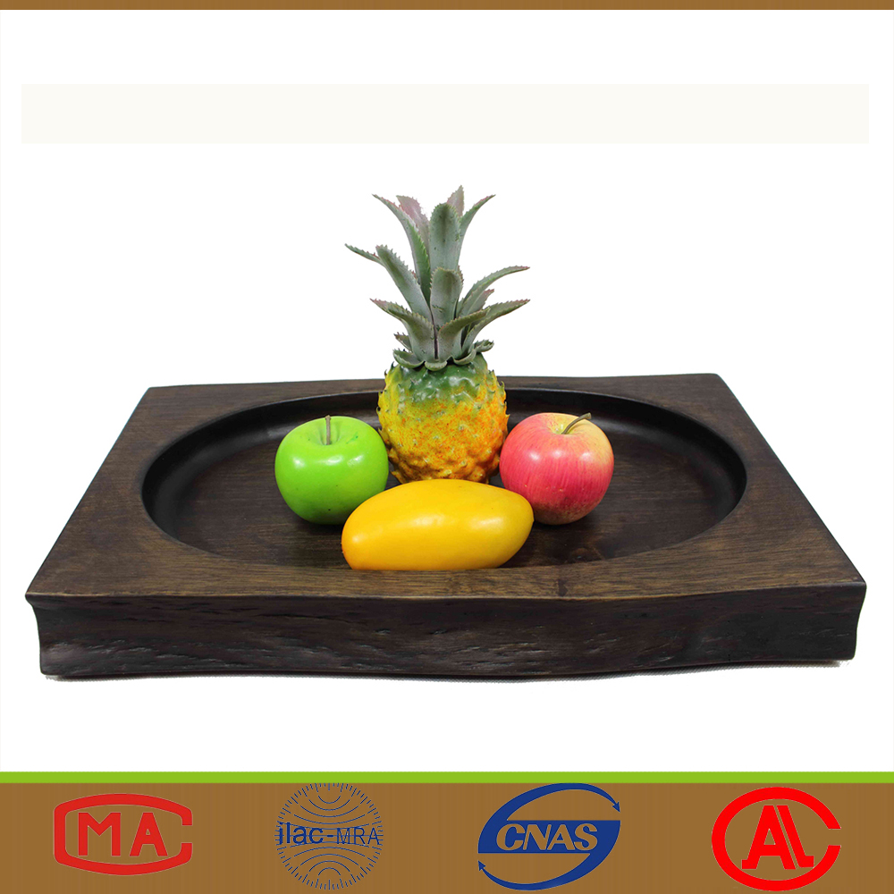 Eco-Friendly Natural Design Rectangular Wooden Fruit Plate