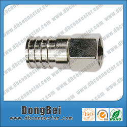 CATV drop coaxial cable crimp connector with waterproof