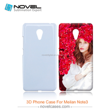 3D sublimation printer Cell Phone Case for Meizu Meilan Note3, DIY Phone Case