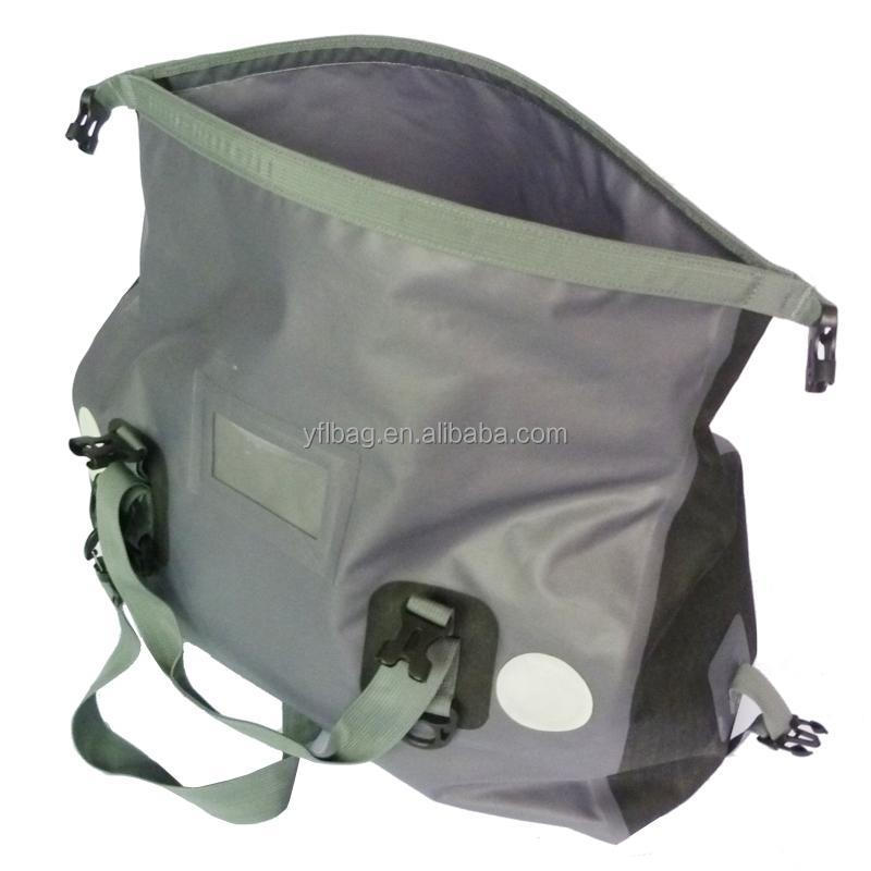 Gray sports duffel bag waterproof for outdoor sports