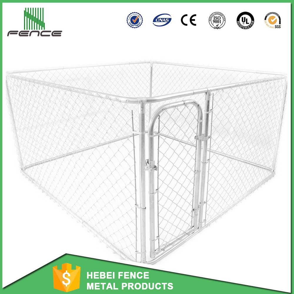 10x10x6 foot classic galvanized outdoor chain link dog kennel for sale